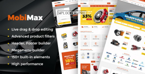 Mobimax v3.2 – Auto Parts WordPress Theme + WooCommerce Shop