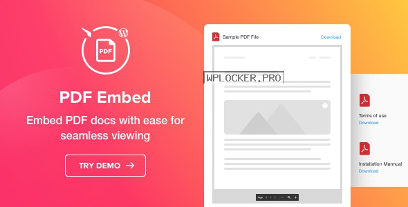 PDF Embed v1.1.0 – WordPress PDF Viewer plugin