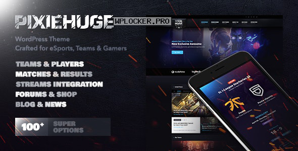 PixieHuge v1.1.7 – eSports Gaming Theme For Clans & Organizations
