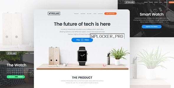 Proland v1.7.9 – WordPress Product Landing Page Theme