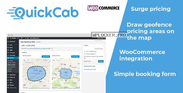 QuickCab v1.2.3 – WooCommerce Taxi Booking Plugin