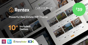 Rentex v1.5.8 – Real Estate WordPress Theme