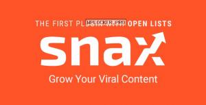 Snax v1.79 – Viral Front-End Uploader