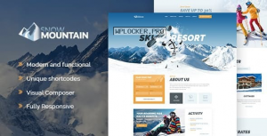 Snow Mountain v1.2.3 – Ski Resort & Snowboard School WordPress Theme