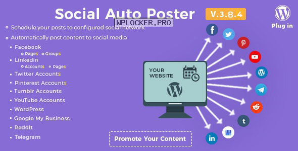 Social Auto Poster v3.8.4 – WordPress Plugin