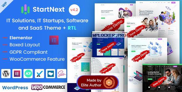 StartNext v4.2 – IT Startups WordPress Theme