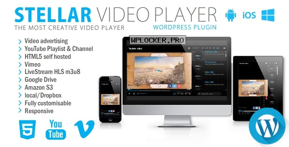 Stellar Video Player v2.1 – WordPress plugin