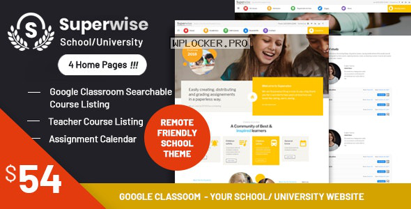 Superwise v2.9.1 – Modern Education and Google Classroom WordPress Theme