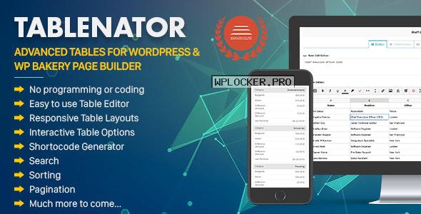 Tablenator v2.1.5 – Advanced Tables for WordPress