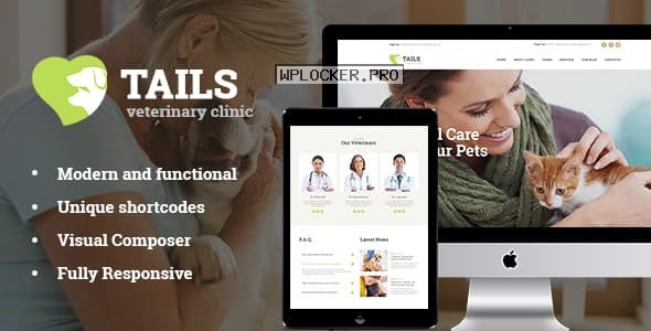 Tails v1.4.2 – Veterinary Clinic, Pet Care & Animal WordPress Theme + Shop