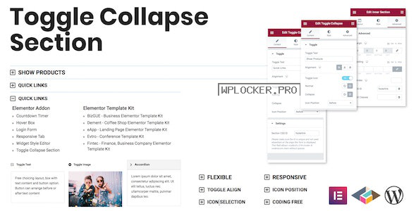 Toggle Collapse Section v1.0.0 – Elementor Addon