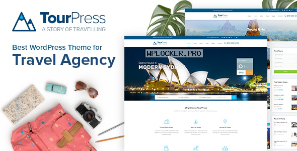 TourPress v1.1.7 – Travel Booking WordPress Theme