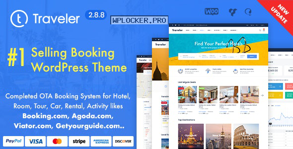 Traveler v2.8.8 – Travel Booking WordPress Theme