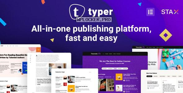 Typer v1.9.3 – Amazing Blog and Multi Author Publishing Theme