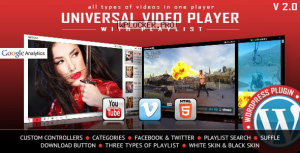 Universal Video Player v3.3.4 – WordPress Plugin