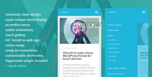Vibrant v1.5 – A Super Sharp WordPress Mobile Theme