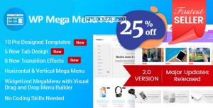 WP Mega Menu Pro v2.1.4 – Responsive Mega Menu Plugin