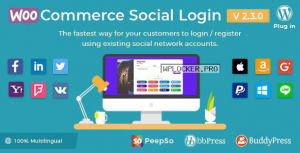 WooCommerce Social Login v2.3.0 – WordPress plugin
