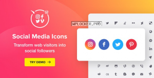 WordPress Social Media Icons v1.7.0 – Social Icons Plugin
