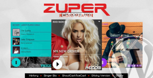 Zuper v2.2.1 – Shoutcast and Icecast Radio Player With History