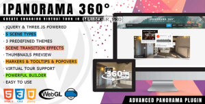 iPanorama 360° v1.6.3 – Virtual Tour Builder for WordPress