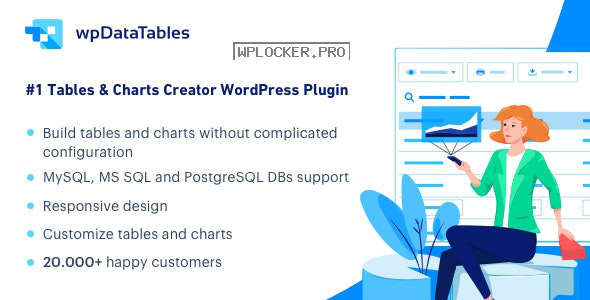 wpDataTables v3.0.4 – Tables and Charts Manager for WordPress