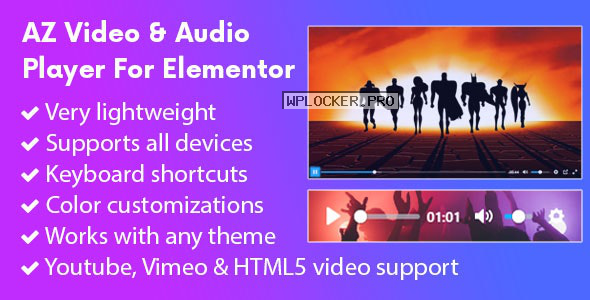 AZ Video and Audio Player Addon for Elementor v2.0.0