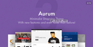 Aurum v3.7.2 – Minimalist Shopping Theme