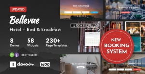 Bellevue v3.2.11 – Hotel + Bed and Breakfast Booking Calendar Theme