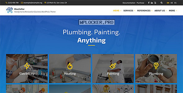BlueCollar v2.5.7 – Handyman & Renovation Business WordPress Theme