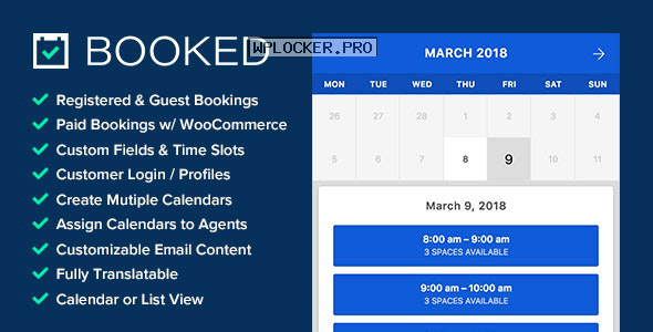 Booked v2.3 – Appointment Booking for WordPress