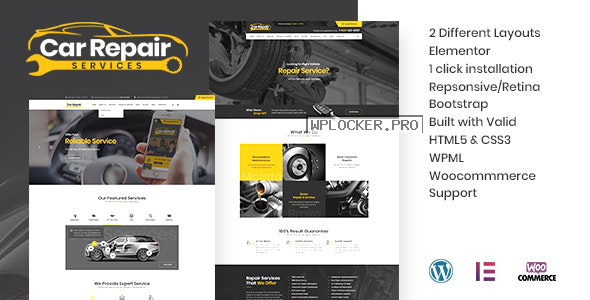 Car Repair Services & Auto Mechanic v3.5 – WordPress Theme + RTL