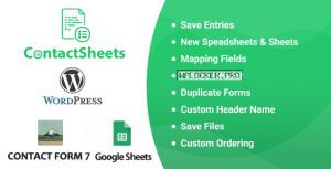 ContactSheets v2.0 – Contact Form 7 Google Spreadsheet Addon