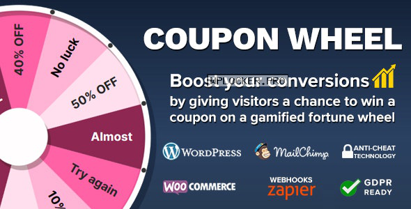 Coupon Wheel For WooCommerce and WordPress v3.3.2