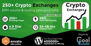 Cryptocurrency Exchanges List Pro v2.1.2 – WordPress Plugin