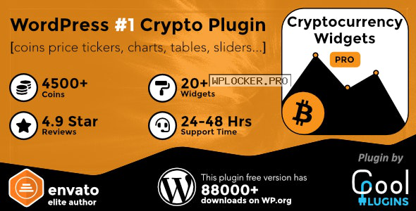 Cryptocurrency Widgets Pro v2.5.2 – WordPress Crypto Plugin