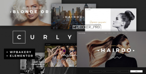 Curly v2.2 – A Stylish Theme for Hairdressers and Hair Salons