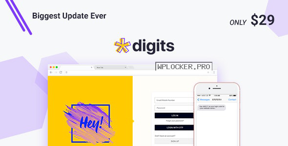 Digits v7.4.0.2 – WordPress Mobile Number Signup and Login