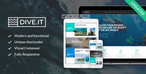 DiveIt v1.3.3 – Scuba Diving School, Sea Adventure & Travel WordPress Theme