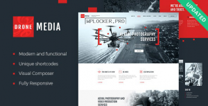 Drone Media v1.3.4 – Aerial Photography & Videography WordPress Theme + RTL