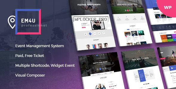 EM4U v1.3.8 – Events WordPress Theme for Booking Tickets