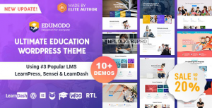 Edumodo v3.4.0 – Education WordPress Theme