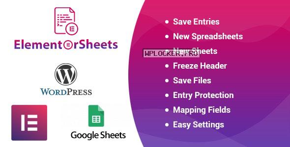 ElementorSheets v2.2 – Elementor Pro Form Google Spreadsheet Addon