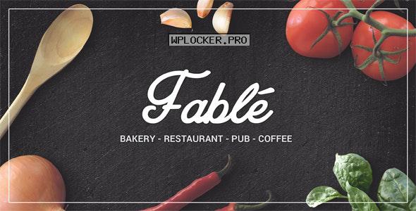 Fable v1.2.7 – Restaurant Bakery Cafe Pub WordPress Theme