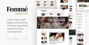 Femme v1.3.0 – An Online Magazine & Fashion Blog WordPress Theme