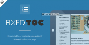 Fixed TOC v3.1.20 – table of contents for WordPress plugin