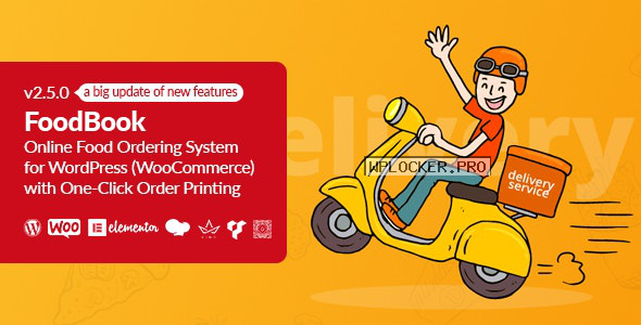 FoodBook v2.5.0 – Online Food Ordering System for WordPress with One-Click Order Printing