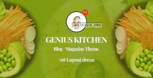 Genius Kitchen v1.5 – News Magazine and Blog Food WordPress Theme