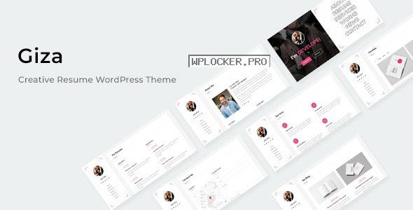Giza v1.0.0 – Creative Resume WordPress Theme