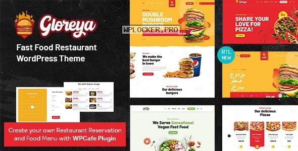 Gloreya v1.6 – Fast Food WordPress Theme